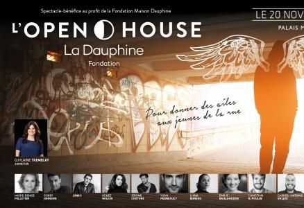 L'OPEN HOUSE de La Dauphine, mardi 20 novembre, Palais Montcalm